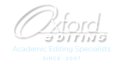 Oxford Editing: Academic Editing Specialists since 2007 Logo
